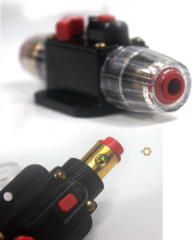 Protezione portafusibili Tipo A 100 A 100 Amp Blocco Fusibile in Linea per Auto con Inverter Solare Interruttore di Circuito DC 12 V-24 V Ytian