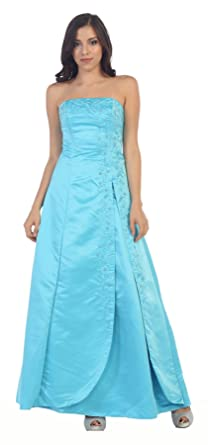 May Queen Classical Bridesmaids Dress (6, Turquoise)
