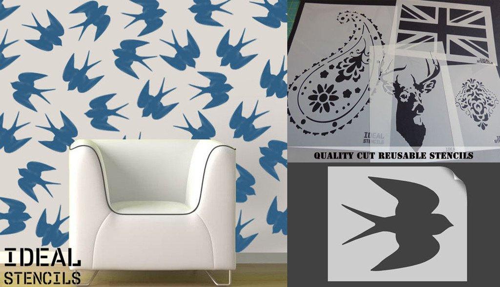 Swallow Bird Stencil Home Decorating Paintingcraft Stencil Xs
