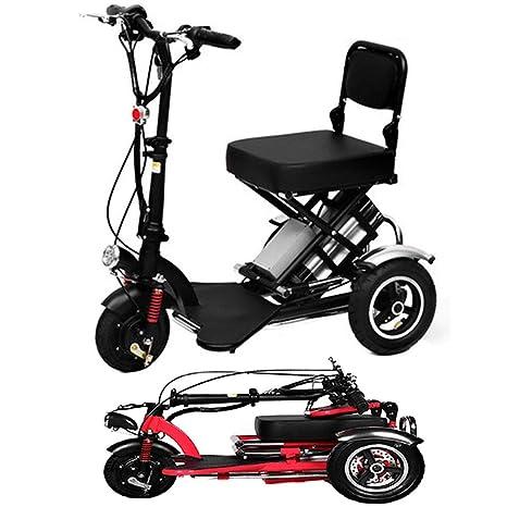 Y&XF Mini Triciclo eléctrico Plegable Scooter eléctrico ...