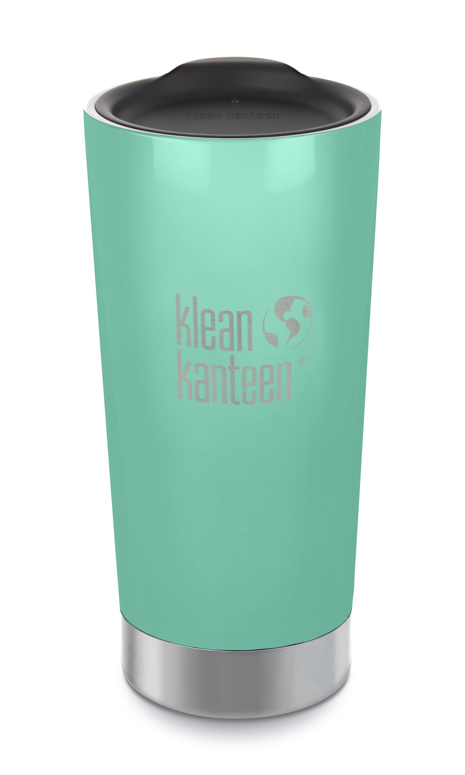 Klean Kanteen 20oz Stainless Steel Tumbler Cup with Klean Coat, Double Wall Vacuum Insulated and Lid - Sea Crest (New 2018)