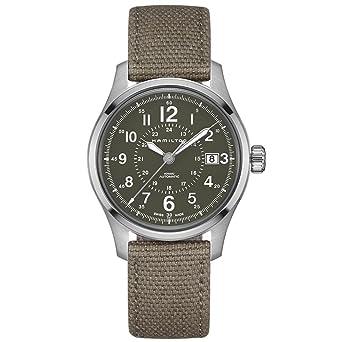 amazon com men s hamilton khaki field automatic military watch watches