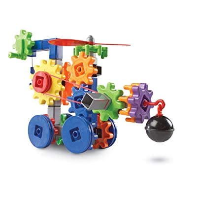 Learning Resources Gears! Gears! Gears! Machines in Motion, STEM, Gear Toy, 116 Pieces, Ages 4+: Toys & Games