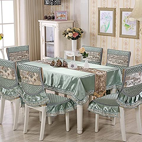 European-style Tablecloths,Chair Covers Bucolic Table Cloth Seat Covers Upholstery Kit, Fabric Table Cloth-B - Taffeta Upholstery