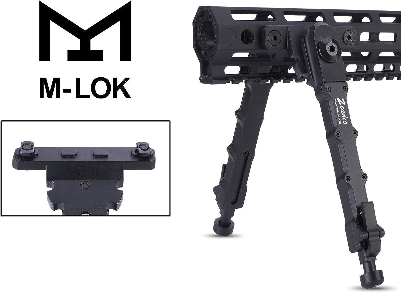 Zeadio Taktisches M-LOK Falten Zweibein f/ür Gewehr Schwarz 7,5 bis 9 Zoll