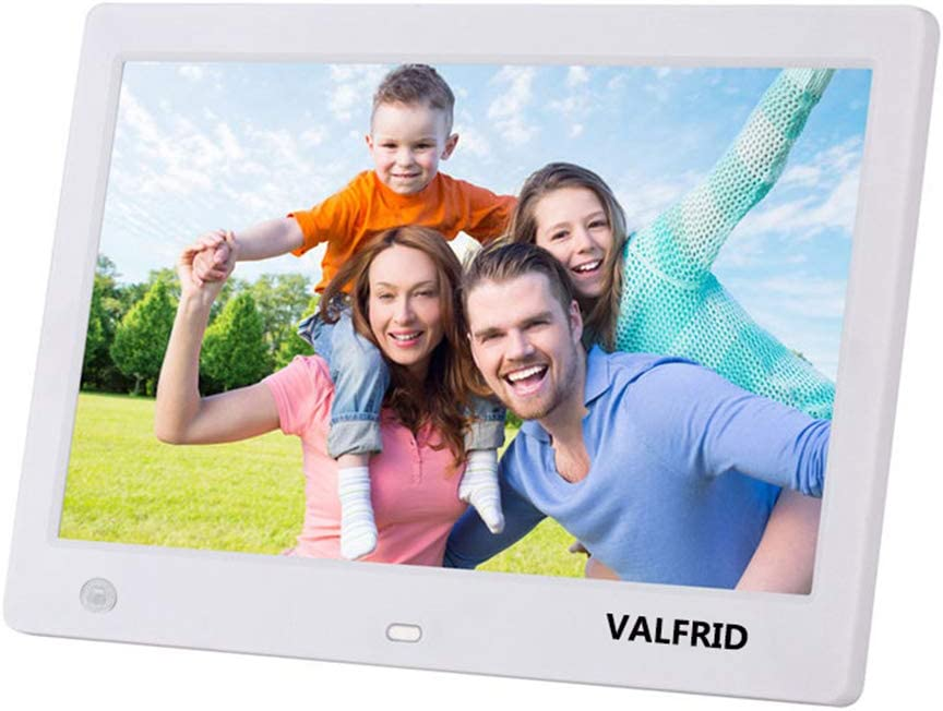 VALFRID Advance 10-Inch Digital Photo Frame High Resolution Widescreen LCD Hu-Motion Sensor Auto On//Off Timer White 1003RT