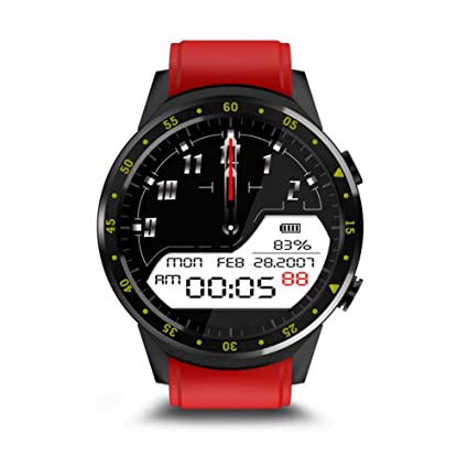 Amazon.com: Smart Watch Round Bluetooth Smartwatch with SIM ...
