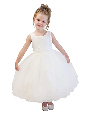 48eb13e9a962c Lito Angels Girls' Rich Sequined Embroidery Flower Girl Bridesmaid Dresses  Communion Occasion Dress: Amazon.co.uk: Clothing