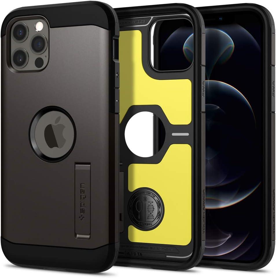 Spigen Tough Armor Designed for iPhone 12 Case (2020) / Designed for iPhone 12 Pro Case (2020) - Gunmetal