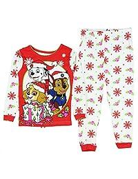 Paw Patrol Little Girls Toddler Christmas Cotton Pajama Set