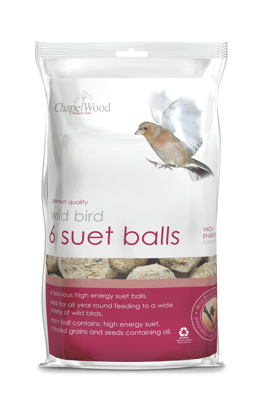 Chapelwood Small Bird Suet Balls (Pack of 6) Solus Garden and Leisure Ltd CPW0703