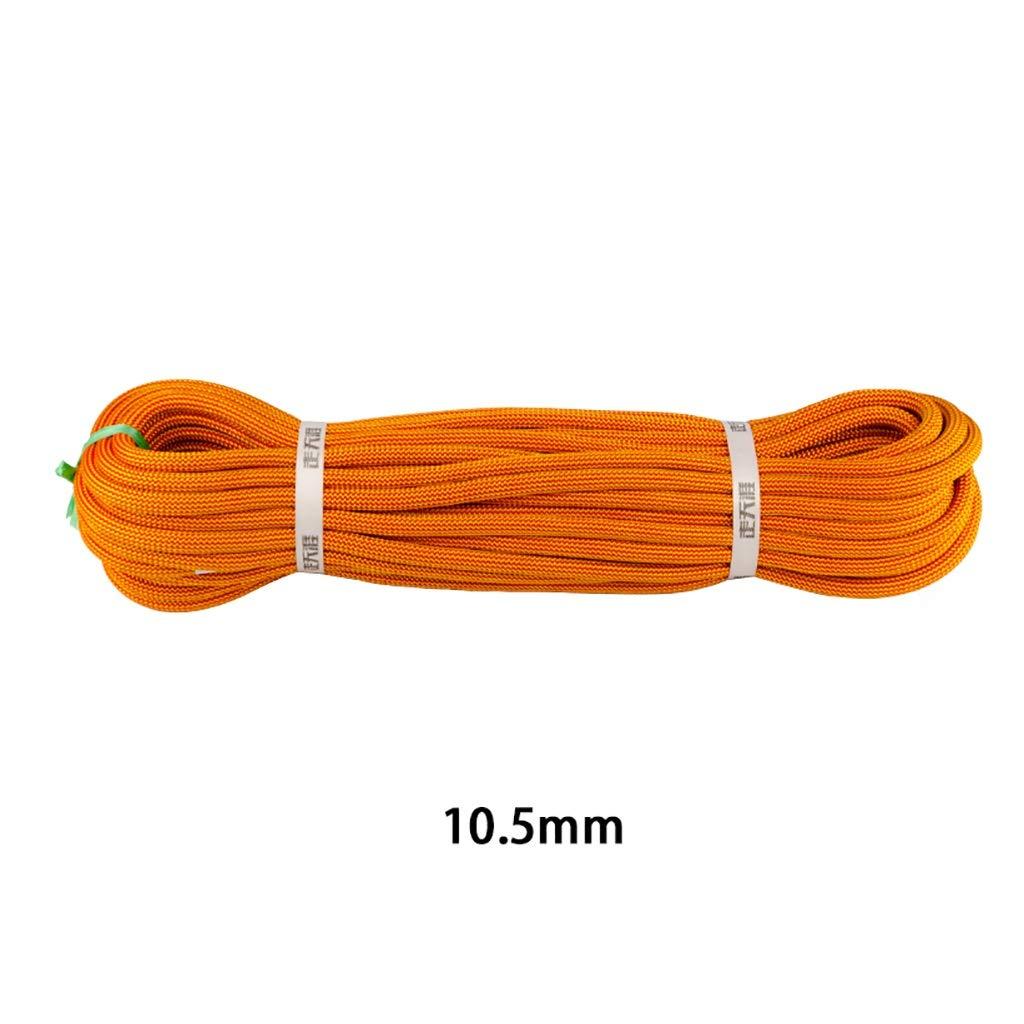 QARYYQ Corde d'alimentation de Corde d'escalade, diamètre de Corde 10,5 mm Orange Cordes (Taille   10M) 20M