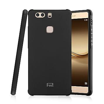 Hevaka Blade Huawei P9 Plus Funda - Suave Silicona TPU Carcasa Smart Case Cover Para Huawei P9 Plus - Negro