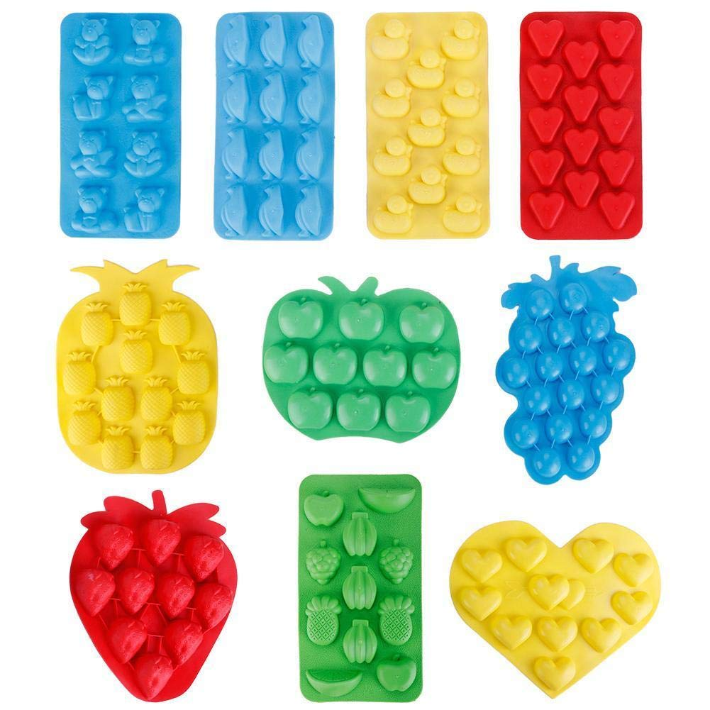 Bazzano Ice Pudding Candy Chocolate Unique Tray Mold Ice Jelly Maker Mould Silicone Fruit Shape