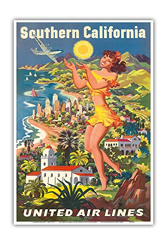 southern-california-united-air-lines-vintage-airline-travel-poster-by-joseph-feher-c1950-master-art-