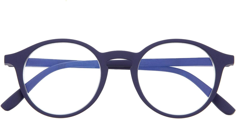 Didinsky Lunette Anti Lumiere Bleue pour Homme et Femme Branches Flexibles et Verres Antireflet 6 Couleurs et 6 Corrections -UFFIZI Toucher en Caoutchouc Repos ou Gaming Lunettes de Lecture