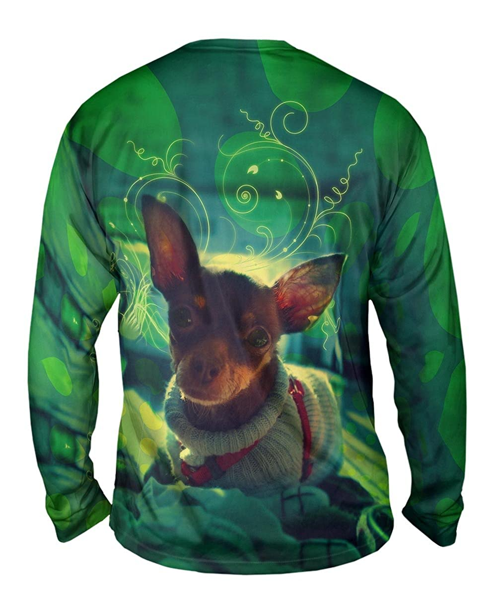 TShirt Mens Long Sleeve Cute Chihuahua Sweater Dog Yizzam