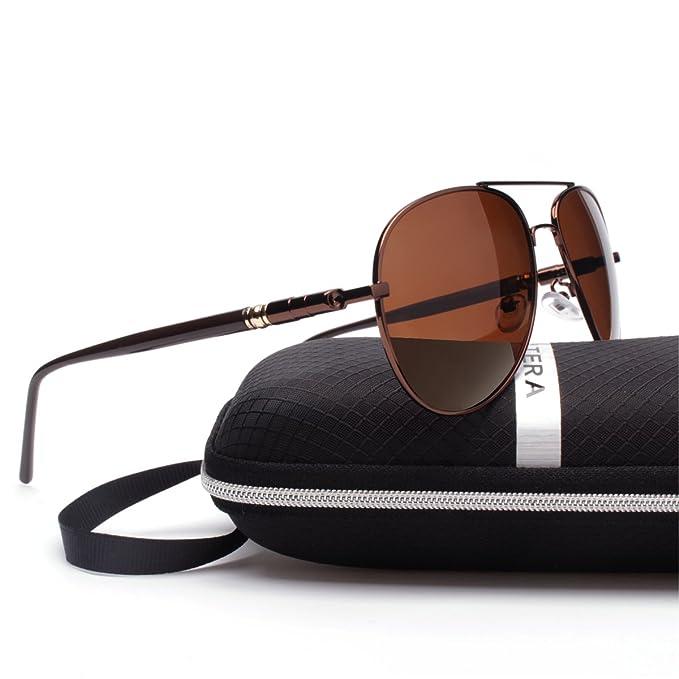 ELITERA hombres de marca de gafas de sol polarizadas 4 aleación del color patas del resorte