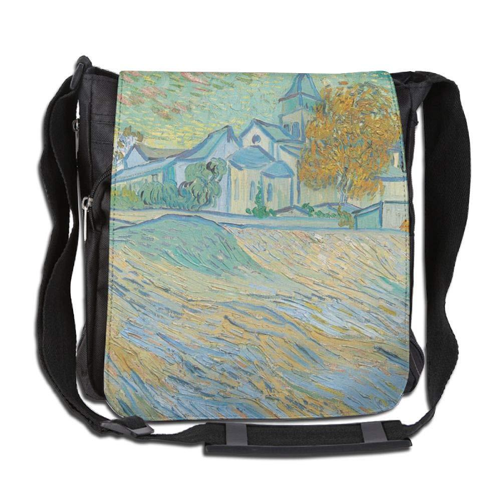 SARA NELL Messenger Bag,Van Gogh Oil Painting,Unisex Shoulder Backpack Cross-body Sling Bag