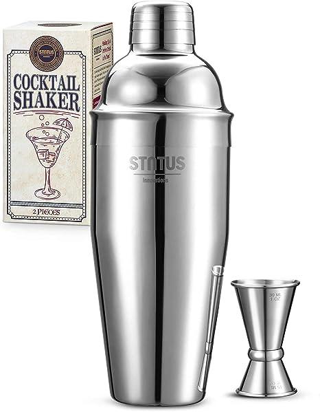 STNTUS INNOVATIONS Coctelera, 2 Pezzi Cocktail Kit, 750ml Profesional Coctelera para Cocteles de Acero Inoxidable, Kit Cocteleria con Jigger, Kit ...