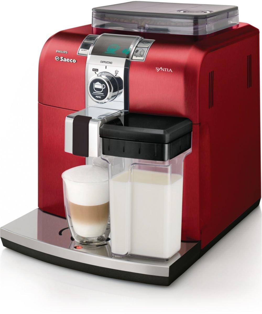 Saeco Intellia - Cafetera de espresso, color rojo: Amazon.es ...