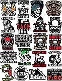 20 Welding Stickers for Welding Hood & Tool Box - 100% Vinyl Stickers - Stickers for Adults - Badass Welder Stickers Including, Flux, Rods, Hood, Flash, Fire, Welds