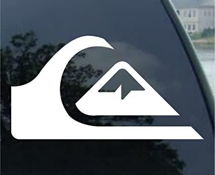 Quiksilver surf car window vinyl decal sticker 7 wide color