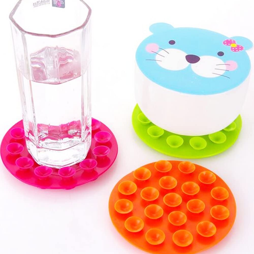 iSuper Non-Slip Suction Cup Tableware Place Mats for Babies and Toddlers Double Sided Suction Cup