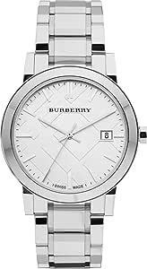 Swiss Silver Date Dial 38mm Unisex Men Women Stainless Steel Wrist Watch The City BU9000