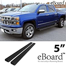 "eBoard Running Boards Matte Black 5"" For 07-16 Chevy Silverado/GMC Sierra Crew Cab Nerf Bars Step Bars Side Steps"