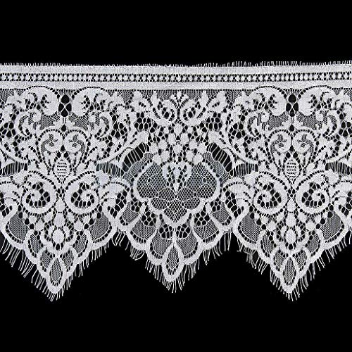 White Eyelash Lace Edge Trim Wedding Bridal Dressmaking Crochet Sewing DIY Craft | Pattern - 7#