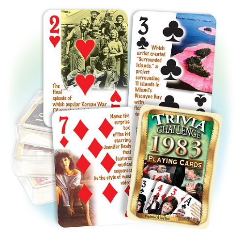 Flickback 1983 Trivia Playing Cards Birthday or Anniversary Gift