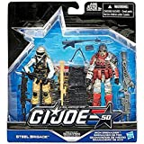 G.I. Joe, 50th Anniversary, Troop Build Up Action Figure Set [Steel Brigade vs. Iron Grenadier], 3.75 Inches