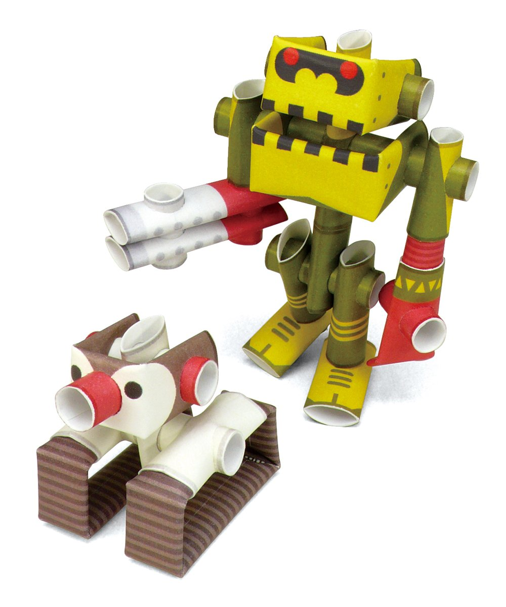 PIPEROID Penk Goriborg paper craft robot kit from Japan Professor His Robot old package