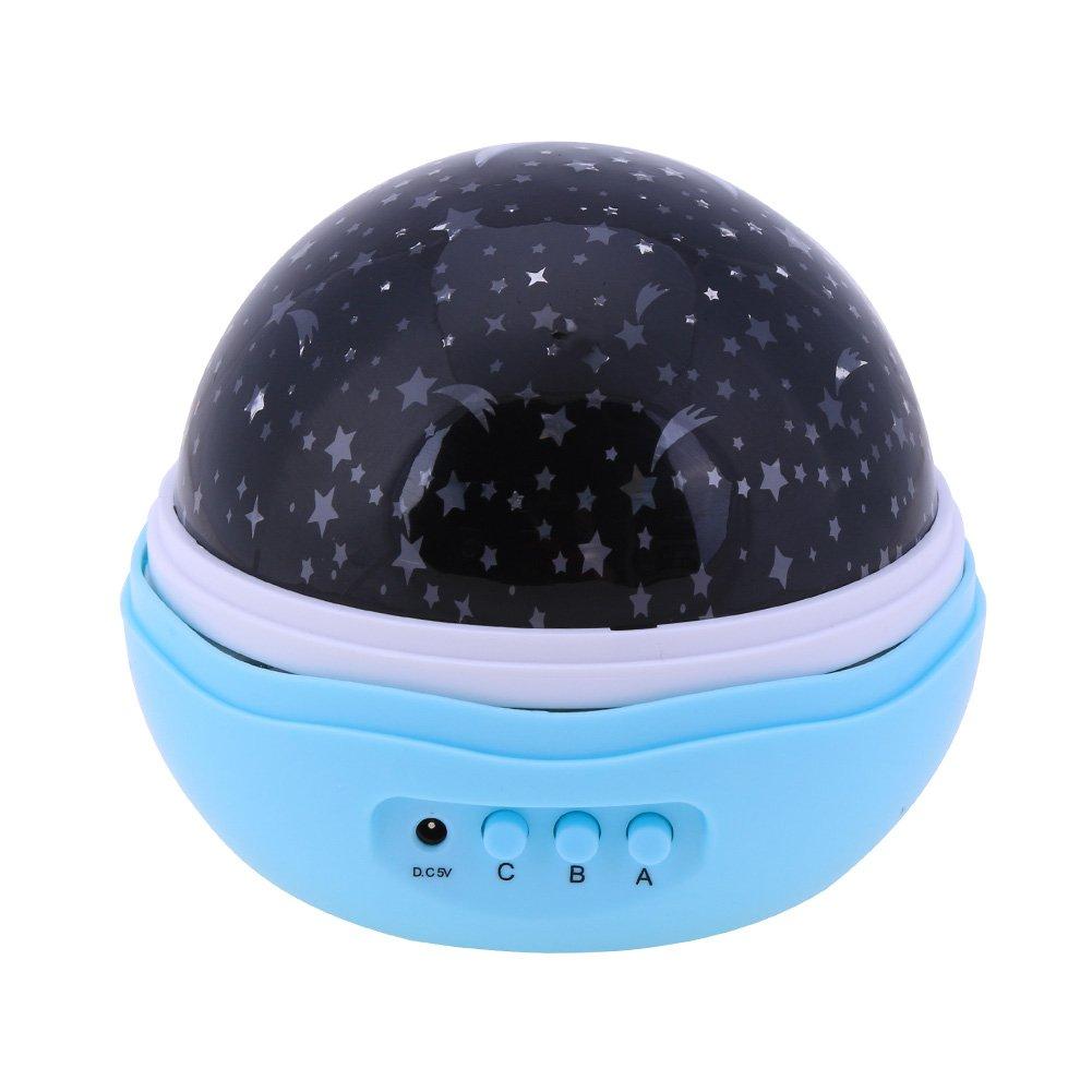 Amazingdeal365 Luz del Proyector Giratoria Ligera de 360 Grados de ...