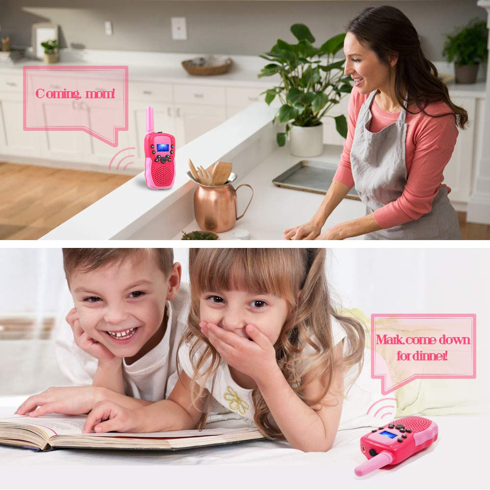 OMWay Outdoor Toys for Toddlers Age 3-5, Kids Walkie Talkies for Girls Age 3-8,2 Way Radio Walkie Talkies,3-12 Year Old Boys Girls Birthday Gifts. by OMWay (Image #6)