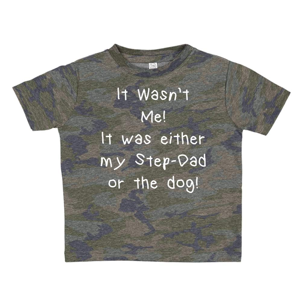 It was Either My Step-Dad Or The Dog Toddler//Kids Short Sleeve T-Shirt It Wasnt Me