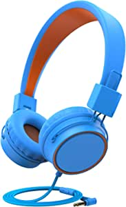 ChenFec Kids Headphones, Headphones for Kids Children Girls Boys w/85dB Volume Limited,Foldable Adjustable On Ear Headphones with 3.5mm Jack Microphone for Mp3/4 iPad Tablet Computer School