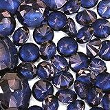 Koyal Wholesale Centerpiece Vase Filler Acrylic Diamonds, Navy Blue