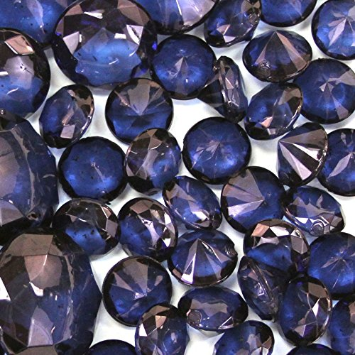 Koyal Wholesale Centerpiece Vase Filler Acrylic Diamonds, Navy Blue (Blue Pot Silk Arrangement)