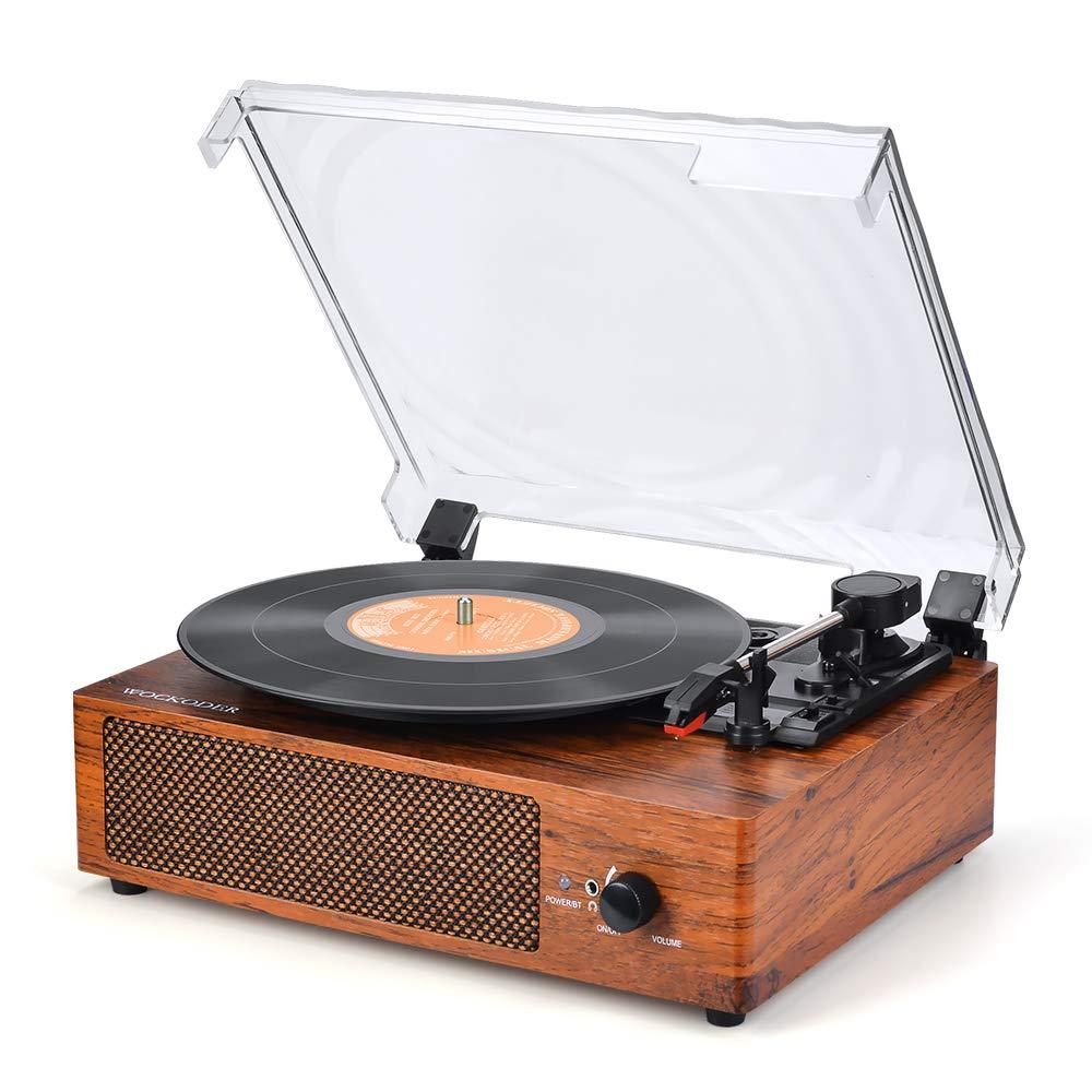 Reproductor de Discos de Vinilo Giratorio Wockoder: Amazon.es ...
