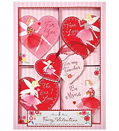 Amazon Com Fairy Valentine Cards Set Of 20 Valentine Cards And One