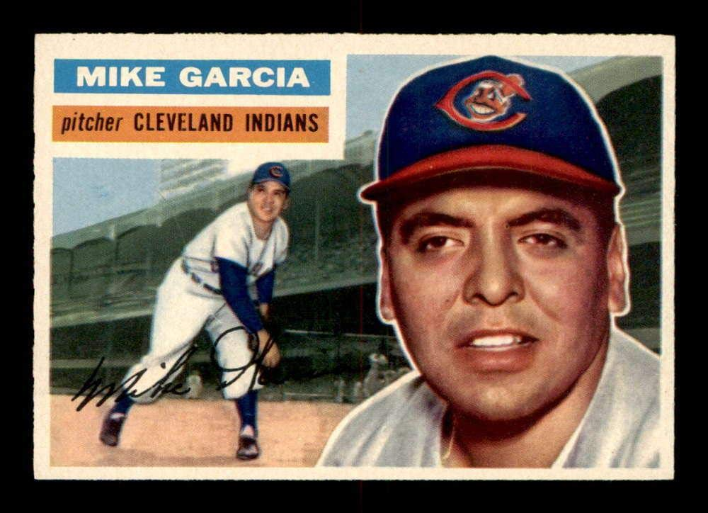210 Mike Garcia 1956 Topps Baseball Cards Graded Nm Baseball