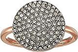 Michael Kors Women's Pave Disk Ring Rose Gold 6