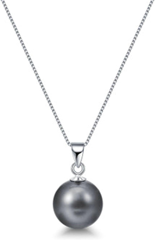 Daesar Collar Mujer Collar Plata de Ley 925 Mujer Collar de Mujer Collar Perla Collar Colgante
