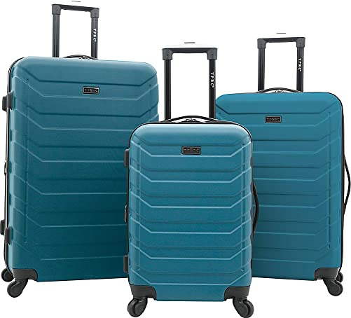 TPRC Expandable Spinner Hardside Luggage Set, Teal, 3-Piece 28 , 24 , 20