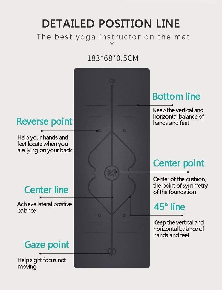 AJ Profesional Esterilla Yoga Jade Eco Antideslizante 6mm Caucho Natural Deporte Mat con Bolsa Correa