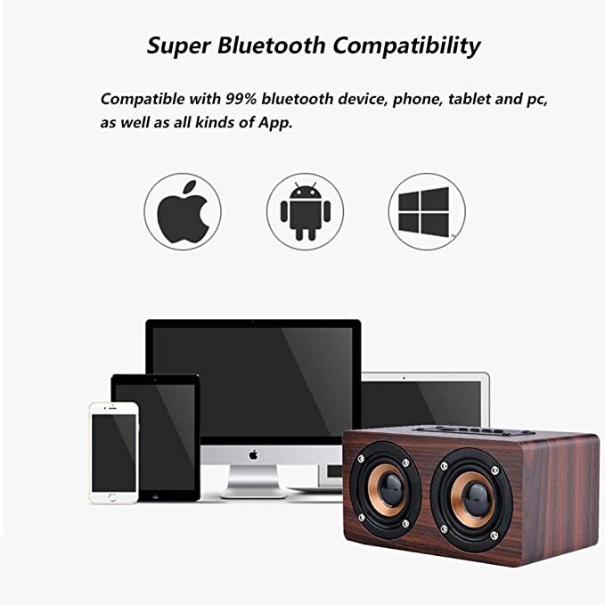 Parlante portátil inalámbrico Bluetooth de GLEADING : 10 Horas de ...
