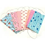 50 Pcs Cute Print Disposable Earloop Face Mask Dust Filter Mouth Cover (Random Color)
