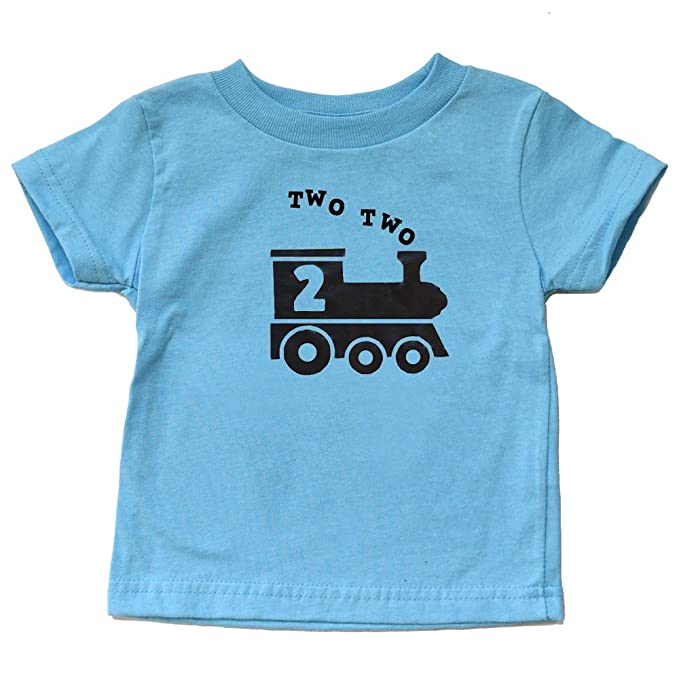 fd863b8d1fae8 Image Unavailable. Image not available for. Color: Two Two Train Birthday  Shirt 2 Train Shirt Toddler Boy or Girl Second ...